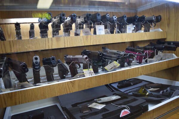 Handguns, shotguns, and rifles available for purchase at Wisconsin firearms store and indoor range