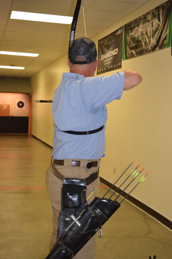 Recurve bows, compound bows, and crossbows are all welcome at the Racine indoor archery range
