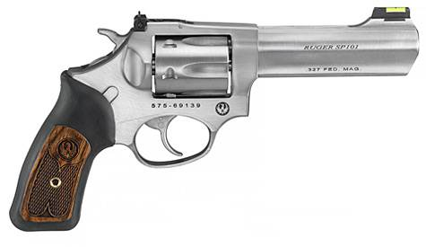 "RUGER SP101 327FEDERAL 4.2"" STAINLESS REVOLVER"