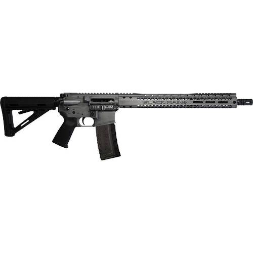 "BLACK RAIN FISSION AR15 556 GREY BATTLEWORN 16"" FLATTOP DIRECT INPINGEMENT, 30RD MAG."