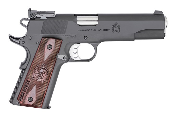 SAI Model 1911-A1 Range Officer .45 ACP 5 Inch Stainless Steel Barrel Blued Slide Low Profile Adjustable Sights 7 Round